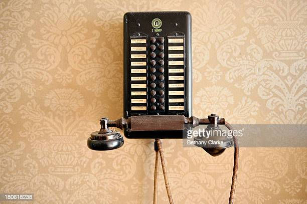 An internal telephone system dating from the 1920's is seen in Pineheath house on September 4 2013 in Harrogate England The untouched 40bedroom house...