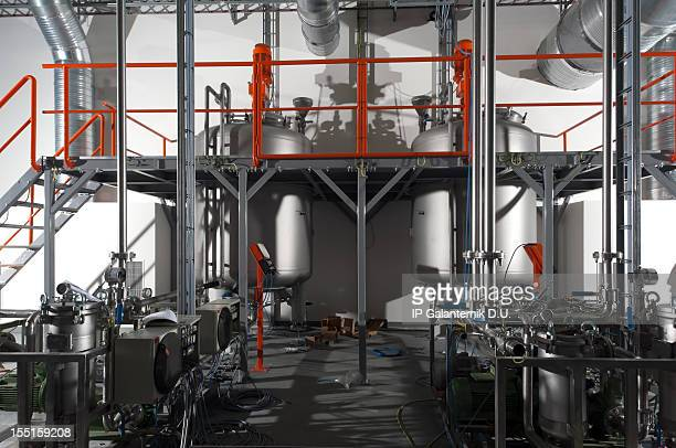 An internal view of a modern chemical plant