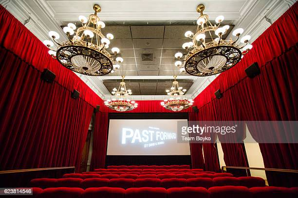 An internal view of a screening room at the screening of 'Past Forward', a movie by David O. Russell presented by Prada on November 16, 2016 in...