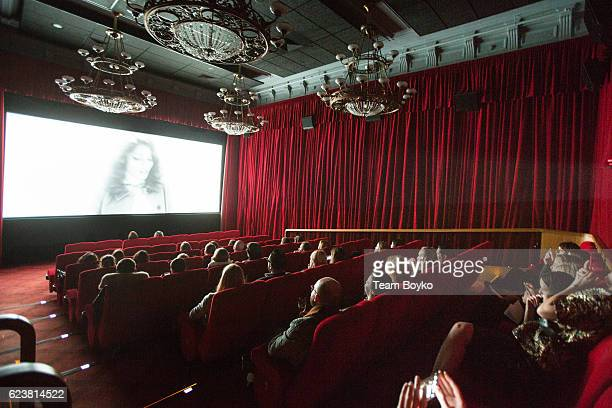 An internal view of a screening room at the screening of'Past Forward' a movie by David O Russell presented by Prada on November 16 2016 in Moscow...