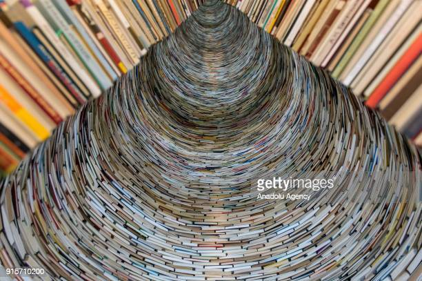 An internal view of Idiom installation, created by Slovakian artist, Matej Kren, is seen at Prague Library in Prague, Czech Republic on February 08,...