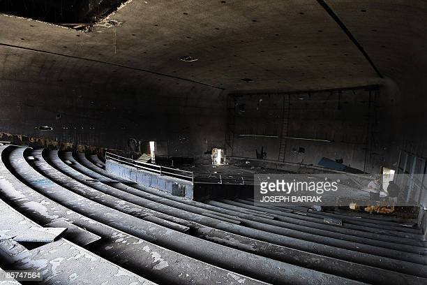 An internal view of the eggshaped movie theatre of the Beirut City Centre is pictured in downtown Beirut on April 1 2009 Bombed in the civil war and...