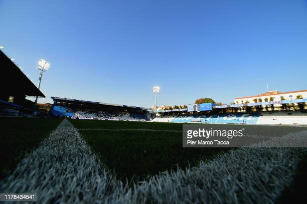 An internal view of the stadio Paolo Mazza prior the Serie A match between SPAL and SSC Napoli at Stadio Paolo Mazza on October 27, 2019 in Ferrara,...