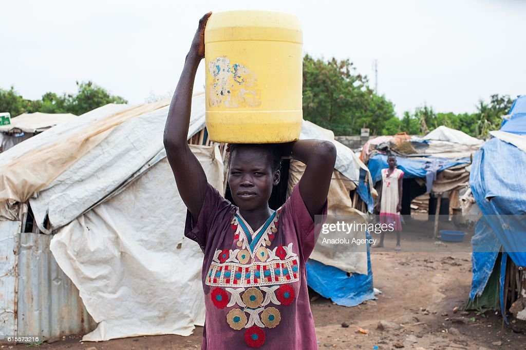 An internally displaced civilian is seen at Saint Mary camp, which has been set up near a cemetery in Juba, South Sudan on October 18, 2016.