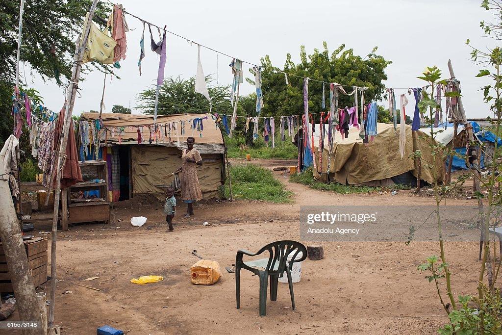 'Saint Mary' camp in South Sudan : News Photo