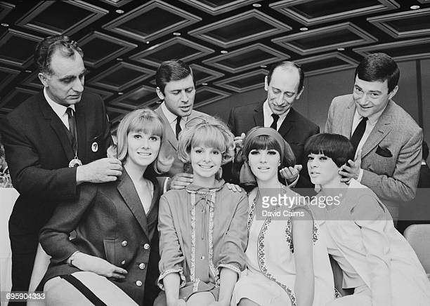 An International Festival of Hairdressing at the Europa Hotel in Belfast 9th May 1965 Hairdressers Silvio Camillo Edward at Andre Bernard Gerard...