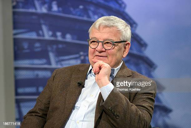 An interview with Green Party member, Joschka Fischer, pictured on October 04, 2013 in Berlin, Germany.