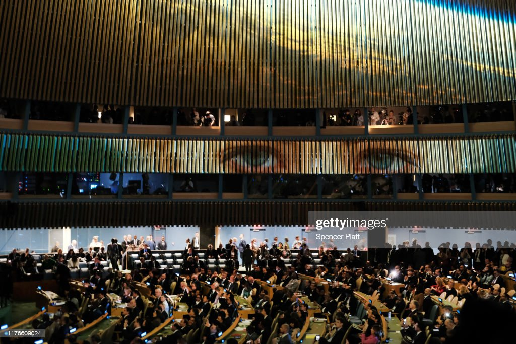 World Leaders Gather For United Nations Climate Summit : News Photo