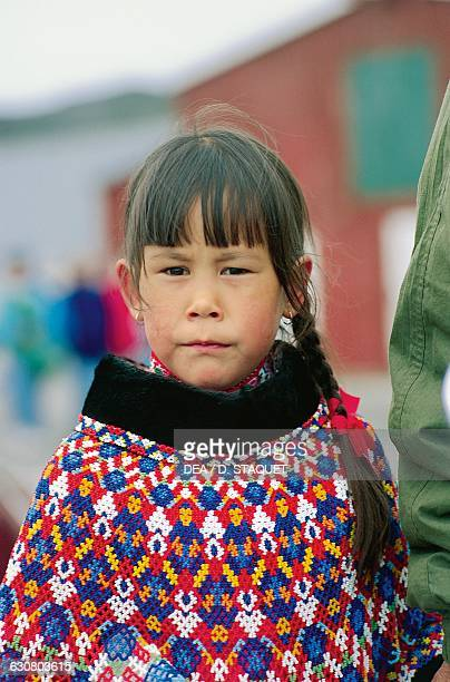 An Inuit child Ilulissat Greenland