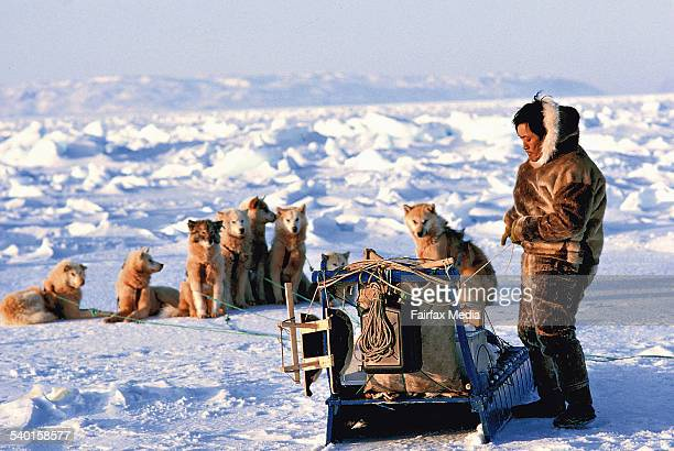 An Inuit's sledge in area of Jakobshaven city Greenland AFR Picture STAFF