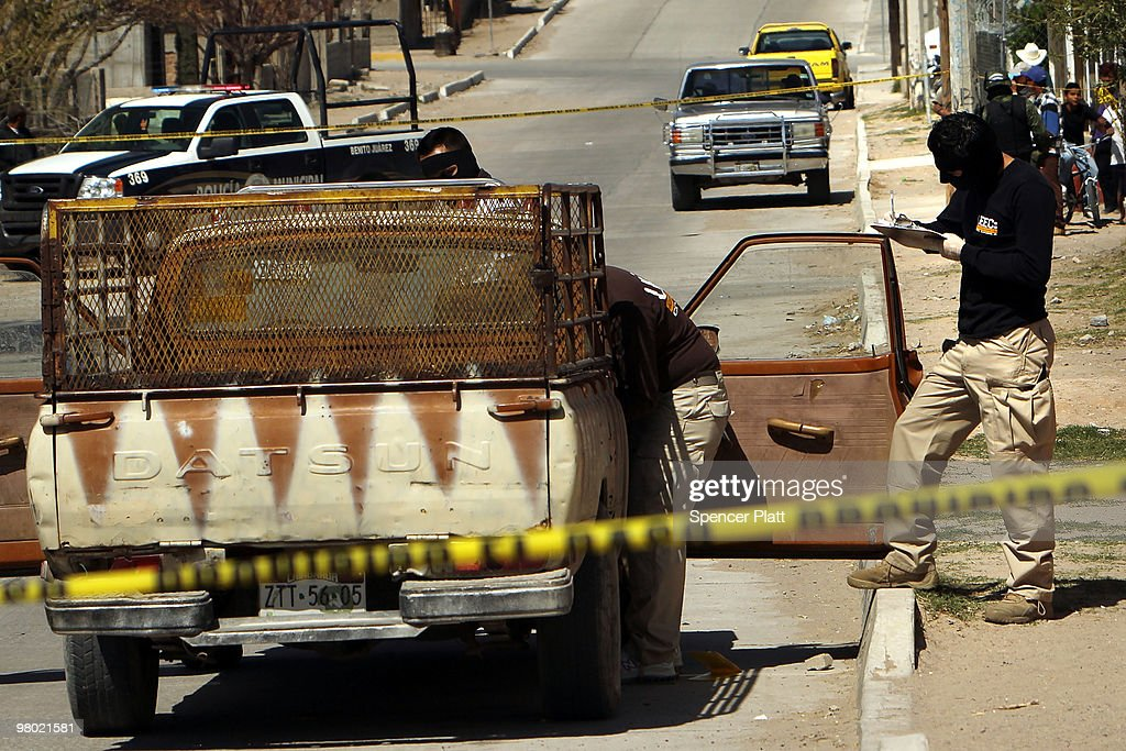 Mexican Drug War Fuels Violence In Juarez : News Photo