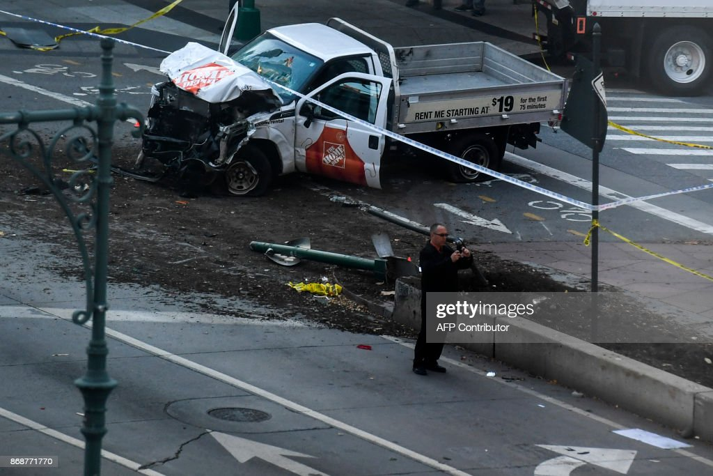 14 - Number of approximate blocks suspect Sayfullah Saipov drove a rented pickup truck on a bike path along the Hudson River in New York, killing eight people.