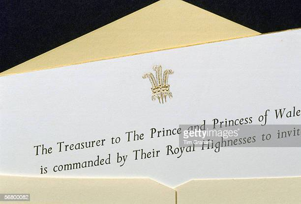 An invitation sent by the treasurer of The Prince and Princess of Wales in the 1980s