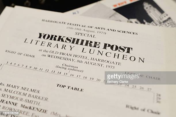 An invitation to a luncheon from 1973 is seen on a table in Pineheath house on September 4 2013 in Harrogate England The untouched 40bedroom house...