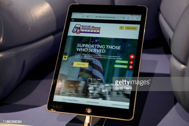 An iPad allows visitors to instantly donate at the Facebook Holiday PopUp in SoHo Manhattan on December 3 2019 in New York City This holiday season...
