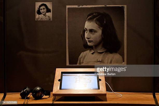 An iPad with interactive features used to educate people about Anne Frank's story is seen at the Anne Frank Center USA on March 26 2012 in New York...