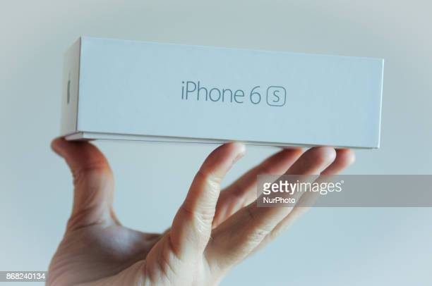 An iPhone 6s box is seen in this photo illustration on Octonber 30 2017