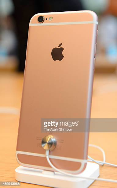 An iPhone 6s is displayed at Apple Store Omotesando on September 25 2015 in Tokyo Japan Apple launches the new iPhone 6s and iPhone 6s Plus today in...