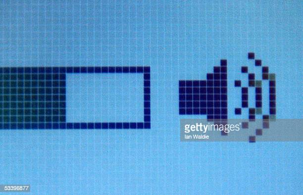 An iPod MP3 player screen displays the volume level August 17 2005 in Sydney Australia Research conducted by the National Acoustic Laboratories to be...