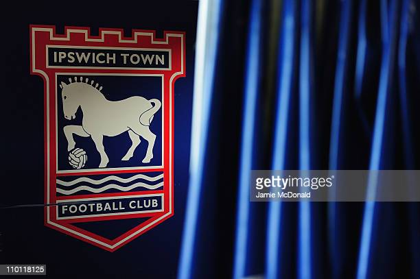 An Ipswich Town sign is seen inside of Portman Road home of Ipswich Town Football Club on March 15 2011 in Ipswich England