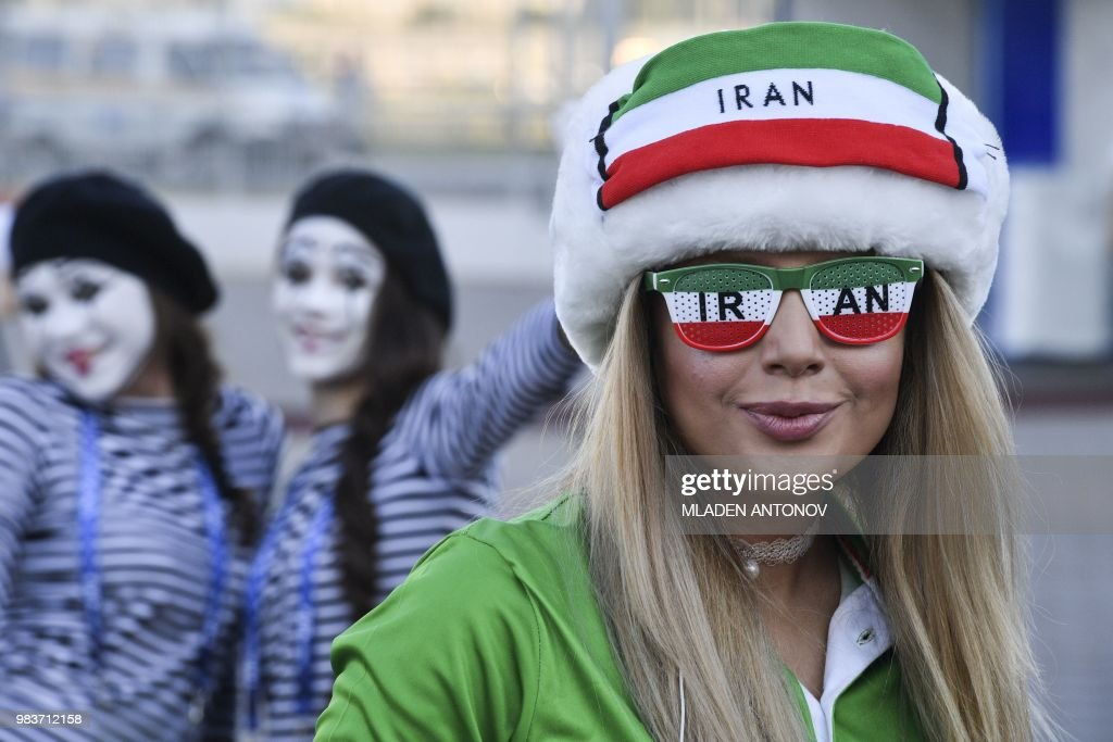 an-iranian-fan-poses-outside-the-mordovia-arena-prior-to-the-russia-picture-id983712158