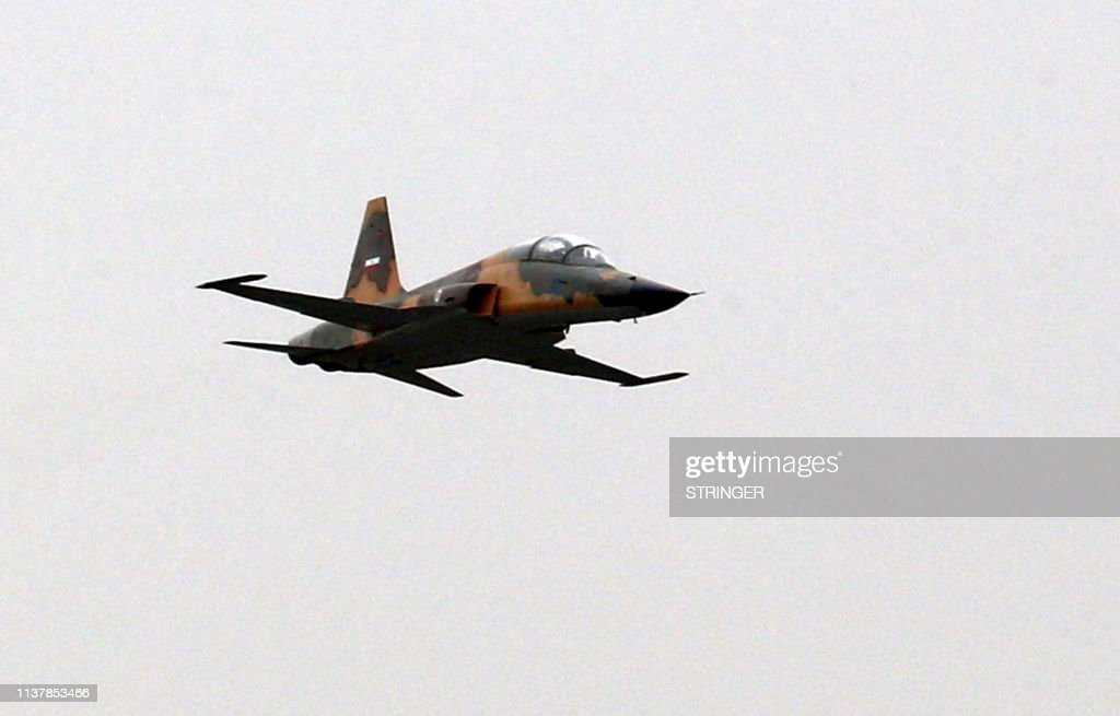 An Iranian fighter jet HESA Kowsar, a fourth-generation fighter, is