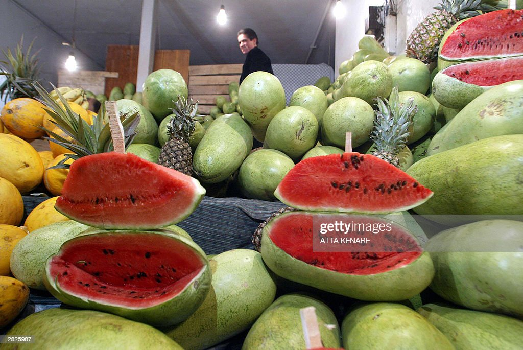 An Iranian man shops for watermelons 21  : News Photo