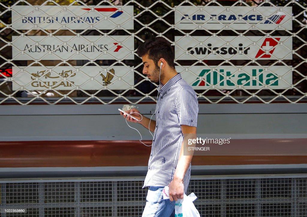 IRAN-BRITAIN-FRANCE-ECONOMY : News Photo