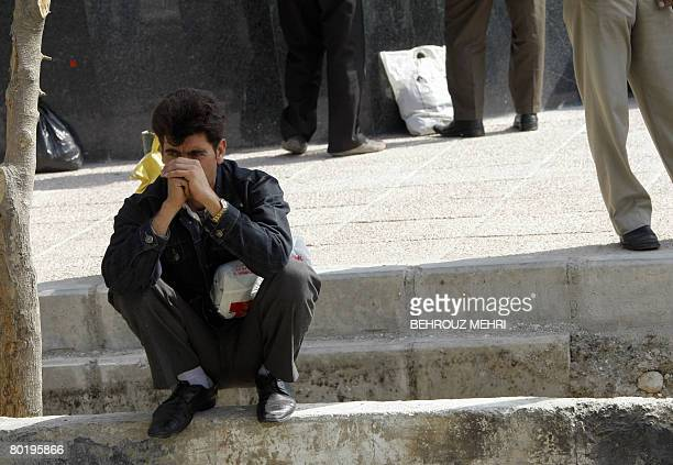 EQBALI An Iranian temporary manual worker waits for work in Tehran on March 11 2008 High inflation unemployment slack monetary policy and a lack of...