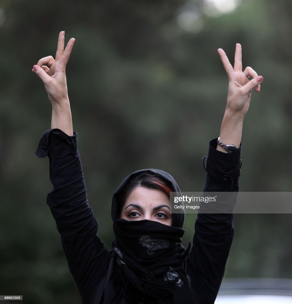 Iranian Protesters Clash With Security Forces : News Photo