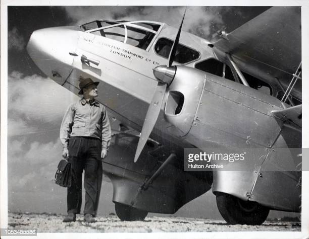 An Iraq Petroleum Transport Company Ltd aircraft used for conveying personnel over sections of the Iraq pipe line, June 1938. Britain's main oil...