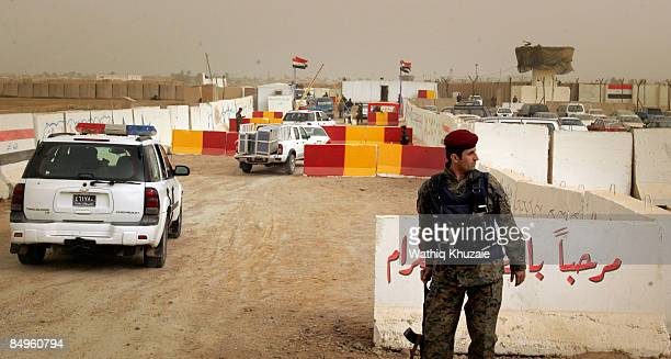 An Iraqi army soldier patrols outside of the newly opened Baghdad Central Prison in Abu Ghraib on February 21 2009 in Baghdad Iraq The Iraqi Ministry...