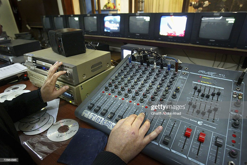 Mosul TV Station Leading Propaganda War Against Insurgents : News Photo