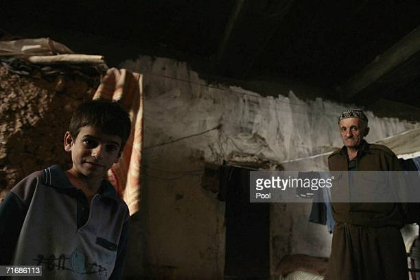 An Iraqi Kurd boy lives with his family in the fortress which was allegedly formerly used by the Iraqi Army to interrogate and torture Kurds during...