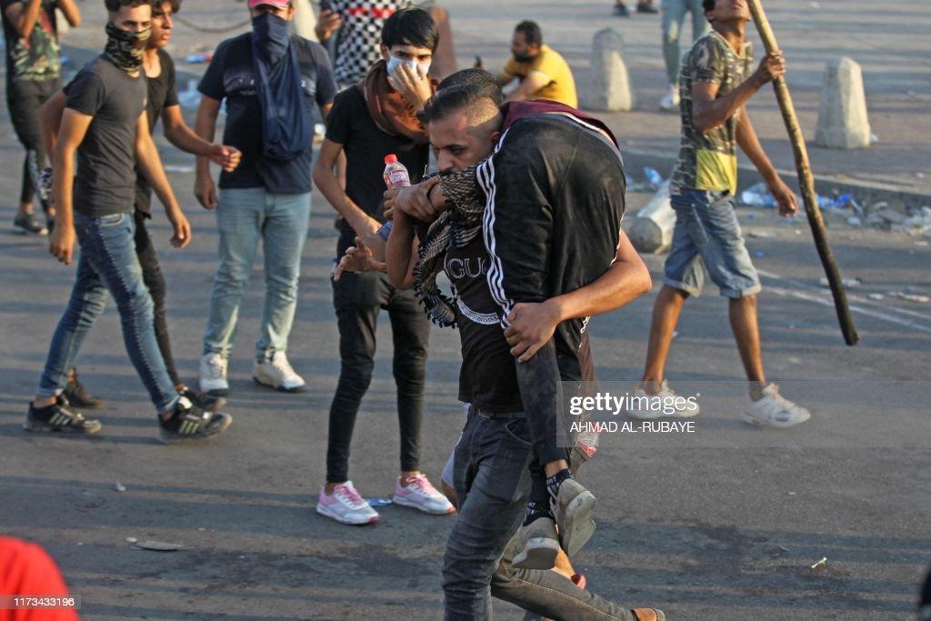 IRAQ-POLITICS-DEMO-UNREST : News Photo