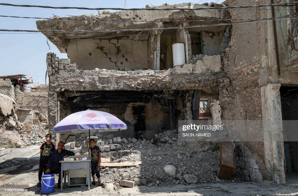 IRAQ-CONFLICT-MOSUL-DISPLACED : News Photo