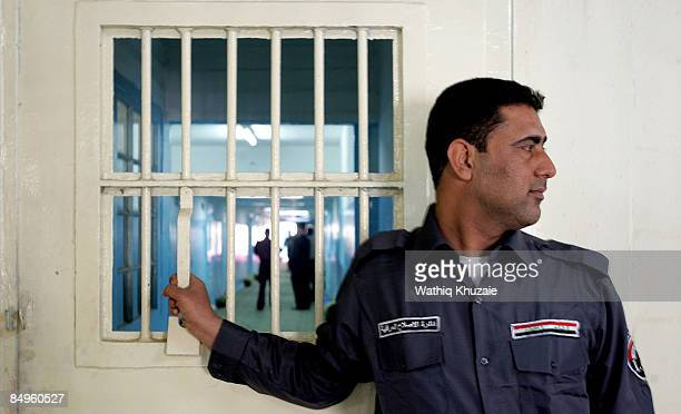 An Iraqi security guard secures the site at the newly opened Baghdad Central Prison in Abu Ghraib on February 21 2009 in Baghdad Iraq The Iraqi...