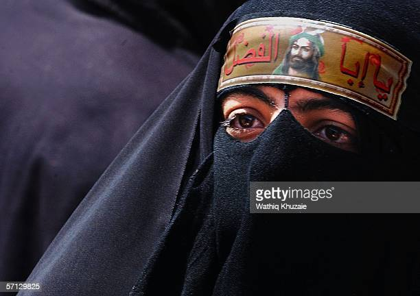 An Iraqi woman is seen March 19 2006 in the holy Shiite city of Karbala 70 miles south of Baghdad Iraq A mortar shell landed in the holy Shiite city...