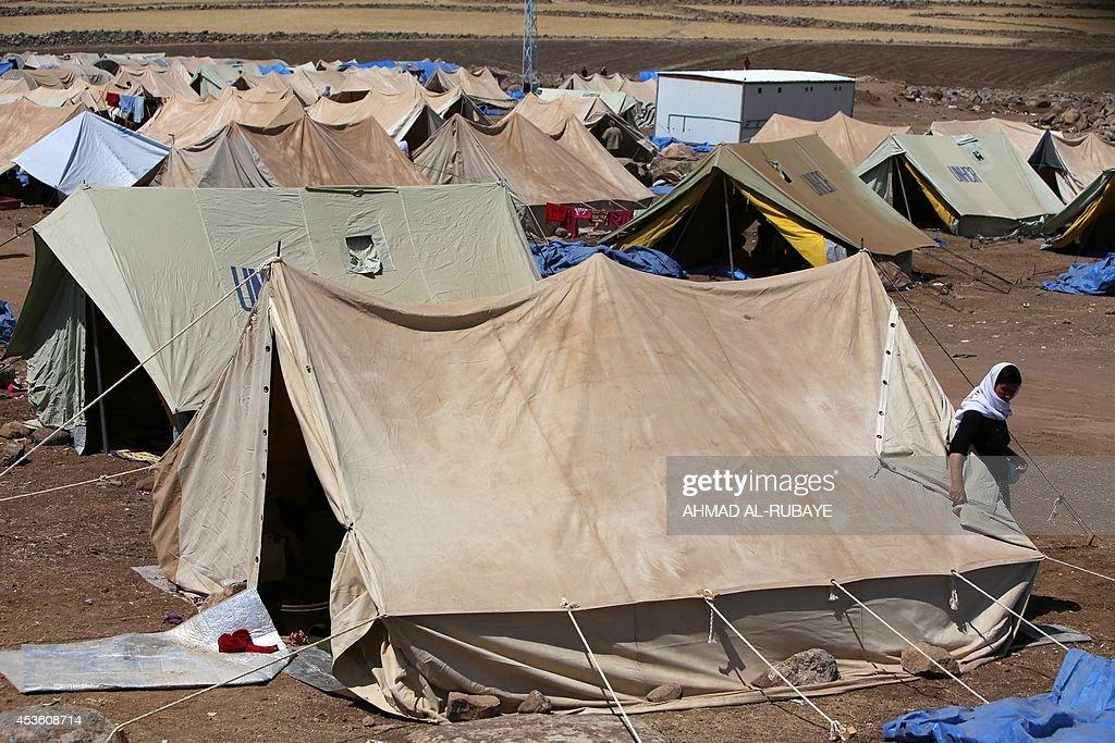 SYRIA-IRAQ-UNREST-YAZIDIS-DISPLACED : News Photo