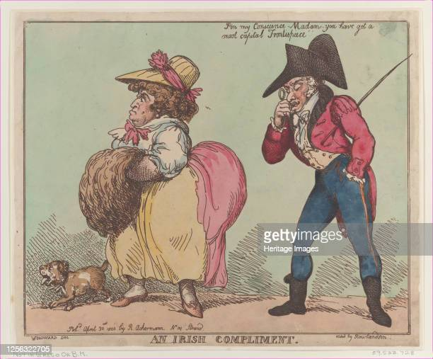 An Irish Compliment April 30 1800 Artist Thomas Rowlandson