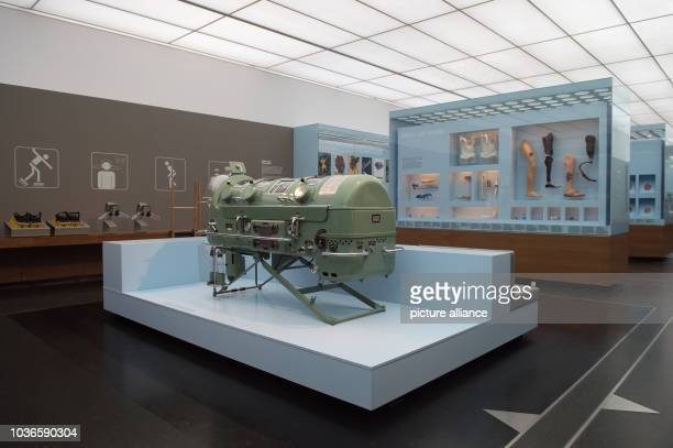 An 'iron lung' can be seen in the newly conceived theme room 'Living and Dying' in the permanent exhibition 'Human Adventure' in Dresden Germany 14...