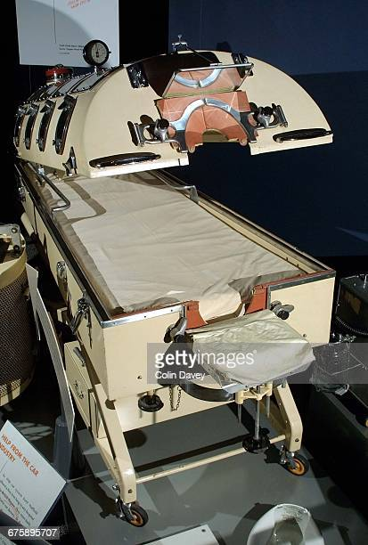 An iron lung from the Science Museum medical collections London 24th January 2002