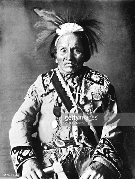 An Iroquois chief 1912 From The Living Races of Mankind Vol II [Hutchinson Co London 1912] Artist Robert Wilson Shufeldt