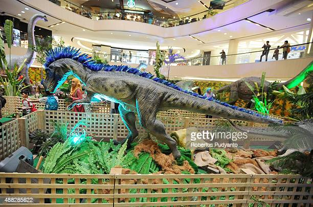 An Irritator replica is displayed in the Dinosaur Adventure and Learning Experience Park at Tunjungan Plaza on September 15 2015 in Surabaya...