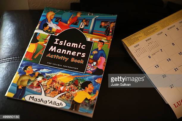An Islamic Manners book sits in a bedroom inside the home of shooting suspect Syed Farook on December 4, 2015 in Redlands, California. The San...