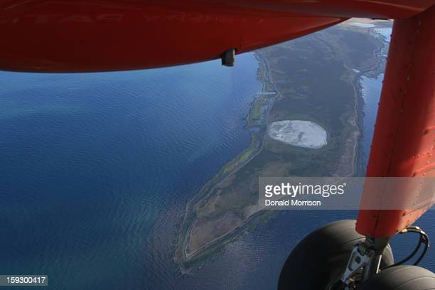CONTENT] An Islander plane belonging to Falkland Islands Government Air Service travelling between West and East Falklands