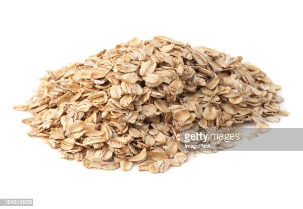 An isolated heap of healthy oatmeal