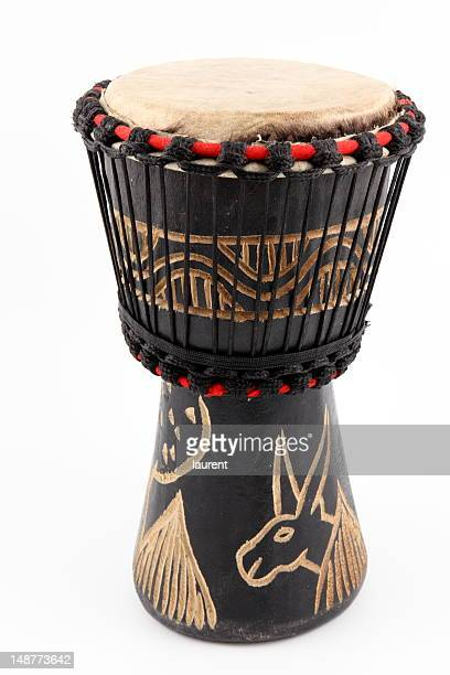 An isolated image of an African djembe drum