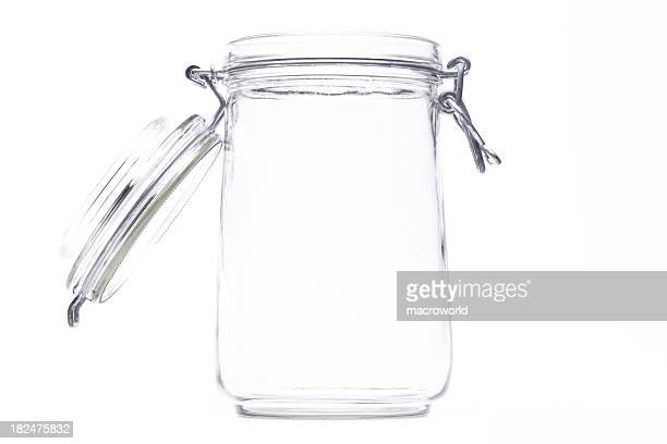 An isolated jar with an open lid
