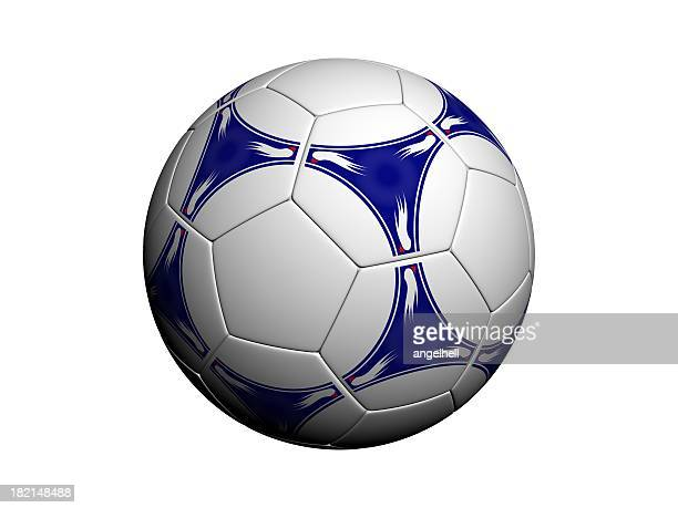 An isolated soccer ball on white